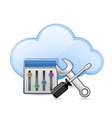 Screwdriver spanner and cloud vector image