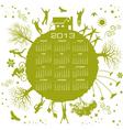2013 green globe calendar vector image