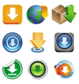 set with download icons vector image vector image