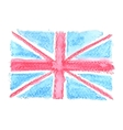 Watercolor British Flag UK United Kingdom vector image