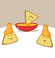 Nachos Cartoon vector image