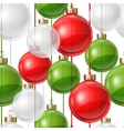 Holiday seamless pattern design with christmas vector image vector image