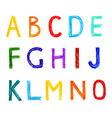 Funny set of english letterns hand drawn alphabet vector image
