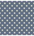 Tile pattern with grey polka dots on pastel blue vector image vector image