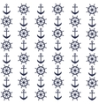 Background with helms and anchors vector image vector image
