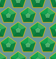 Emerald seamless pattern background of green gems vector image