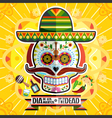 Dia De Los Muertos Day Of The Dead Skull vector image