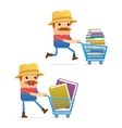 farmer with books vector image vector image