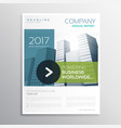 company brochure design template in clean modern vector image