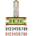 Electronic alarm clock vector image