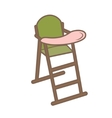 green baby chair for feeding vector image