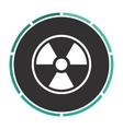 Radiation computer symbol vector image