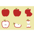 Red apple pattern vector image