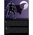 Superhero on Rooftop vector image
