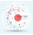Wireframe mesh polygonal sphere vector image