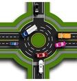 Road infographics Top view 3d Road interchange vector image