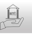 bank building money check design vector image