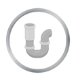 Plumbing trap icon in cartoon style isolated on vector image
