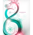 Colorful Christmas swirl abstraction with lights vector image vector image