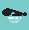 Black Symbol Of A Person Playing On Yoga Ball vector image
