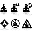 Meditation icons vector image vector image