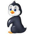 Cartoon funny penguin isolated on white background vector image vector image
