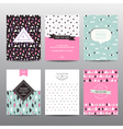 Set of Geometric Brochures and Cards vector image