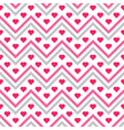 Chevron Hearts Seamless Pattern vector image