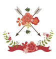 Floral festive designs vector image