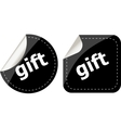 gift black and white web icon button set isolated vector image