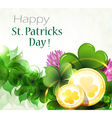Gold coins with clover vector image