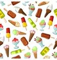Ice cream desserts seamless pattern vector image