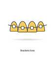 linear isolated icon - braces icon vector image