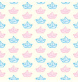 origami paper boats or ships pattern vector image