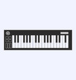 piano or electronic keyboard keys line art icon vector image