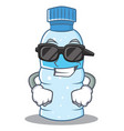 super cool bottle character cartoon style vector image