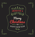 Vintage Retro Merry Christmas Greetings Badge on vector image