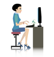 Working women vector image