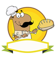 Hispanic Baker Holding Bread vector image vector image