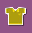 paper sticker on stylish background golf shirt vector image