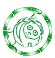 decorative ornament panda vector image vector image