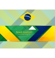 Tech geometry background in Brazilian colors vector image vector image