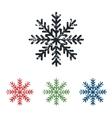 Snowflake grunge icon set vector image