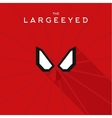 Mask Largeeyed Hero superhero flat style icon vector image