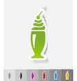 realistic design element dessert in a glass vector image