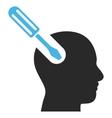 Brain Tool Flat Pictogram vector image