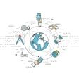 Telecommunication mobile technology concept vector image