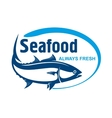 Fish market symbol with wild alaskan salmon vector image vector image
