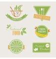 Set of badges for organic and natural products vector image