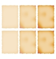 Burnt Paper Set Torn Border Isolated On White vector image
